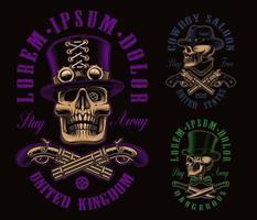 A set of different skulls vector