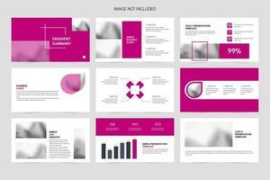 Business corporate slides, company brochure presentations vector