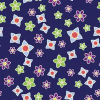 Abstract floral color seamless pattern