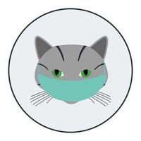 Cat avatar with medical mask