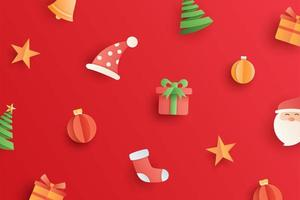 Christmas with objects and element