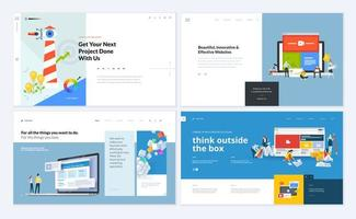 conjunto de plantillas de diseño de páginas web vector