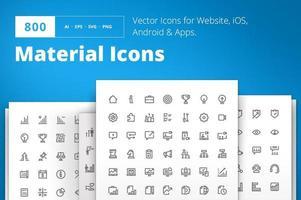 diseño de material pixel perfect conjunto de iconos vector