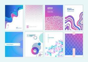 Business plan cover design templates vector