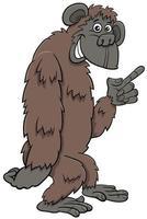 gorila, mono, salvaje, caricatura, animal, carácter