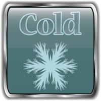 Night weather icon with text cold