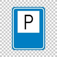 Parking sign isolated on transparent background
