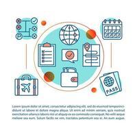 concepto de planificación de viaje vector