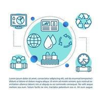 concepto de la industria del agua vector
