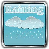 Day weather icon with text raining