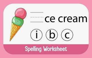 Find missing letter with ice cream