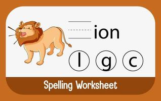 encontrar la letra que falta con el león