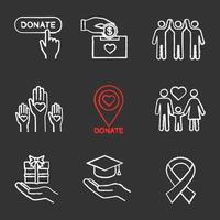 Set of charity chalk icons