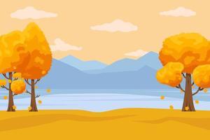 fondo de otoño con hojas dibujadas a mano