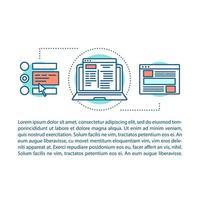 página de artículo de construcción de sitio web vector