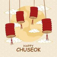 Hand draw chuseok festival vector