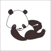 Cute cartoon panda bear vector