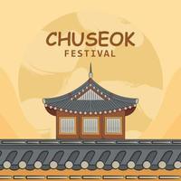 Chuseok Festival Celebration vector