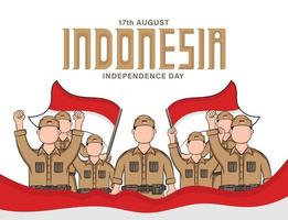 Indonesia Independence day banner vector