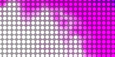 Pink background with circles.