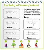 English alphabet tracing worksheets