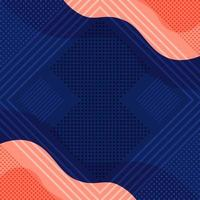 Abstract Flat Geometric and Curve Shapes vector