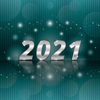brillo plateado 2021 año nuevo vector