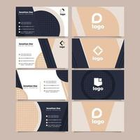 Black and Beige Polished Business Card