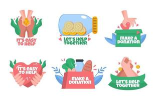 Normalize Giving Helping Hands and Donations vector