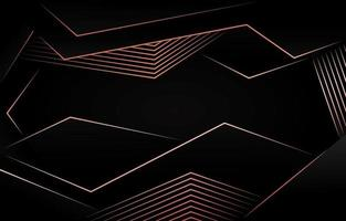 Abstarct Polygonal Dark Background with Rose Gold Shade vector