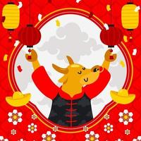 Chinese Ox New Year Background