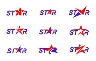 Dinamic Red Purple Stars vector