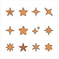 Collection Of Star Shapes vector