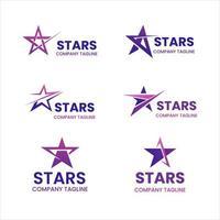 colección de logos de estrellas abstractas