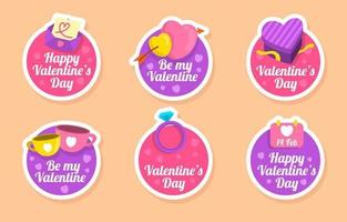 Colorful Valentine Festivity Sticker Collection