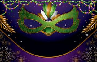 Mardi Gras Mask Background