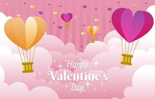 Cloud Valentine Background vector