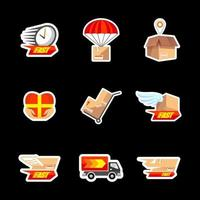 Delivery Services Sticker Packs vector