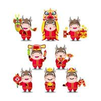 Chinese New Year Cute Animated Ox Characters