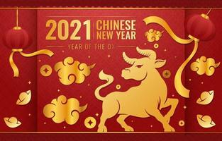 Year Of The Ox Concept
