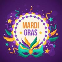 Mardi Gras Party Background vector