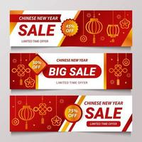 Chinese New Year Sale Banner vector