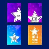 Colorful Gradient Star Card Collection