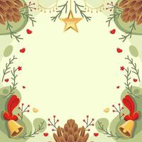 Christmas Background With Green And Red Color vector