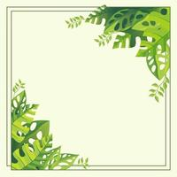Floral Background With Fresh Green Color vector