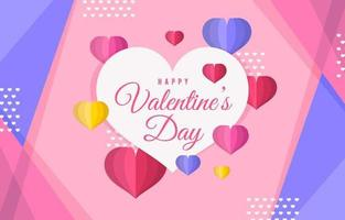 Cute Colorful Valentine's Day Background