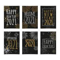 Fireworks Greeting Cards 2021 vector