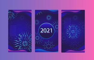 Blue Purple Firework Festival Banner
