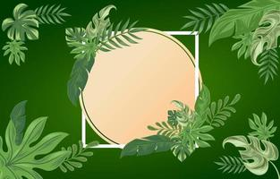 Floral Background of Tropical Leaves vector