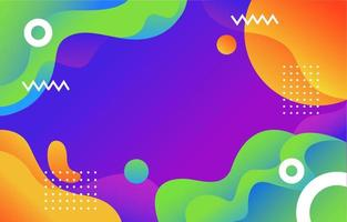 Vibrant Abstract Geometric Background vector